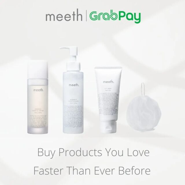 Good news for meeth fans! meeth have partnered with @grab_sg to make online shopping faster than ever before.  Shop online with GrabPay now, Pay the way you want!  #meeth #meethglobal #skincare #japaneseskincare #luxuryskincare #kindtoskin #beauty #skincareproducts #glowing #skin #selfcare #precious #loveyourskin #Grabpay #Grabpaysg #Grabpaylover #onlineshopping #onlinepayment #grab #grabsg #GrabforGood